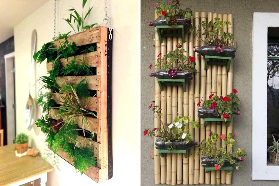 Como hacer un jardin vertical elegant como hacer un - Jardin vertical en casa ...